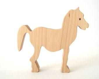 Pony Wood Toy Waldorf Farm Maple Child Safe Londonberry Farm Hand Cut Scroll Saw
