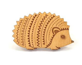 Woodland Hedgehog Brooch