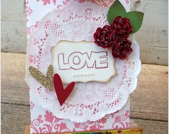 "Custom handmade  ""LOVE"" Valentines Day gift card holder/seed packet!!!"