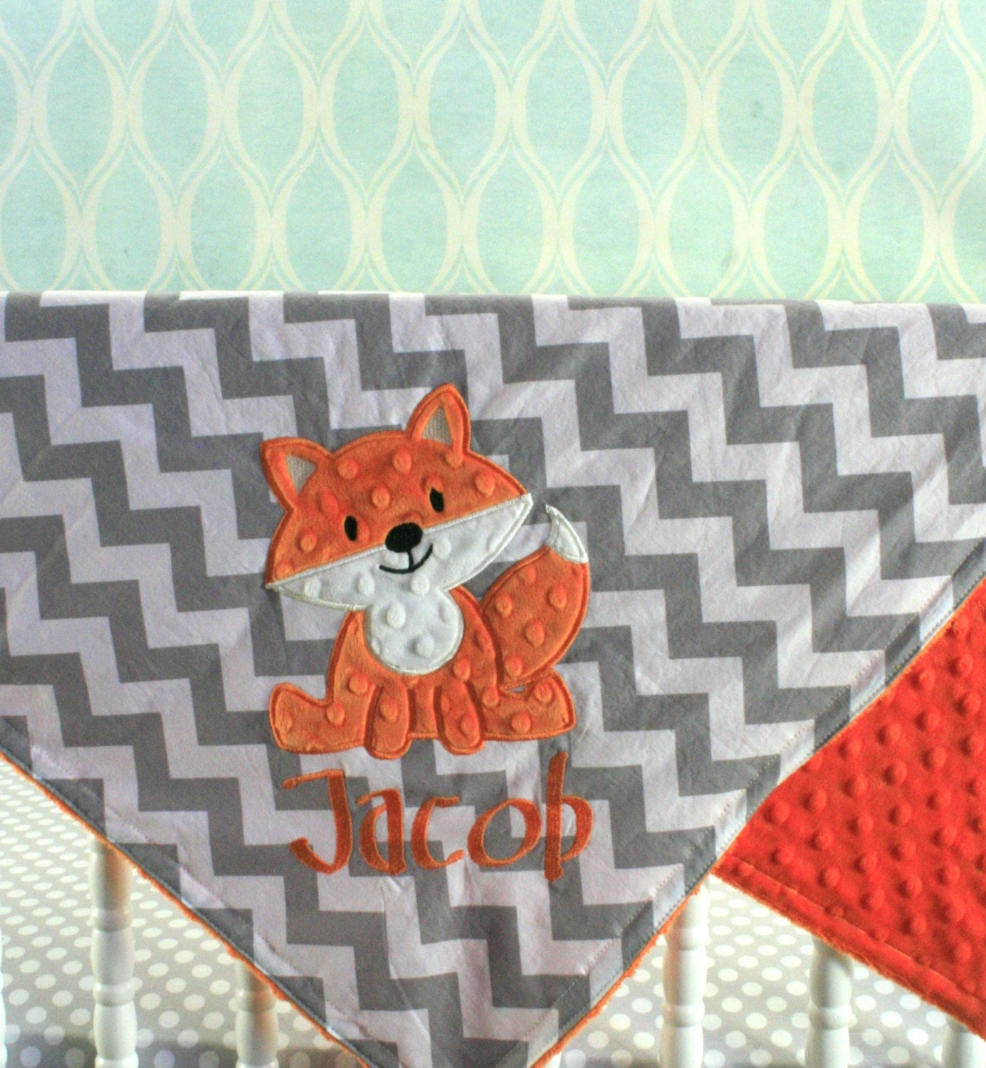 Little Leo S Nursery Fit For A King: Fox Baby Blanket Fox Applique And Name Included