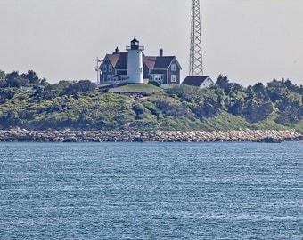 CAPE COD Photography ~ Nobska Point Lighthouse FALMOUTH Massachusetts New England Travel Atlantic Ocean Beach Sand Liz Thomas