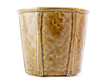 SALE Vintage Brown Planter - Churchill England Gardener Men Decor Pottery