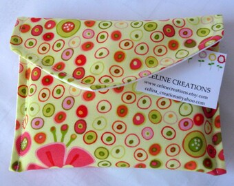 Sanitary Napkin Pad Bag Pouch Holder Geometric Circles And Flowers