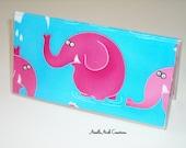 Checkbook Cover , Holder- Elephant,Elephants