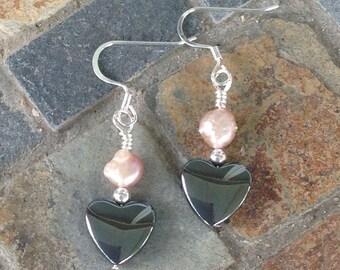 Peach pearl & Hemalyke Heart