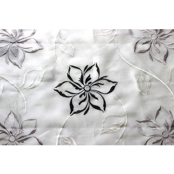 leafy days embroidered sheer curtain fabric drapery window treatment fabric bedroom curtain grommet curtain panel window