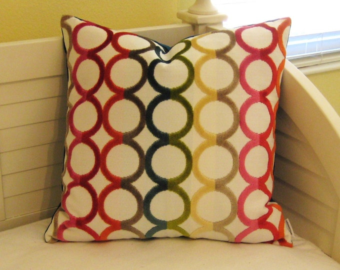 Jonathan Adler for Kravet  Ringleader in Confetti  Designer Pillow Cover