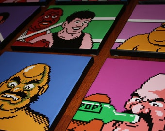 Nintendo's Mike Tyson's Punch Out Canvas Art 12 10x10 prints all characters