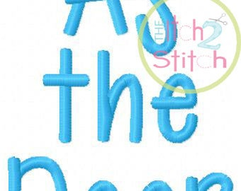 "As The Deer Machine Embroidery Font  1.5"", 2.0"" & 2.5"" INSTANT DOWNLOAD now available"