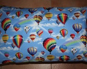 Hot air balloon pillowcase, standard size, blue
