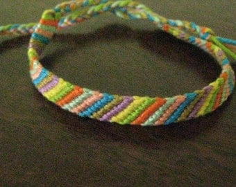 8 Color Basic Stripe Friendship Bracelet