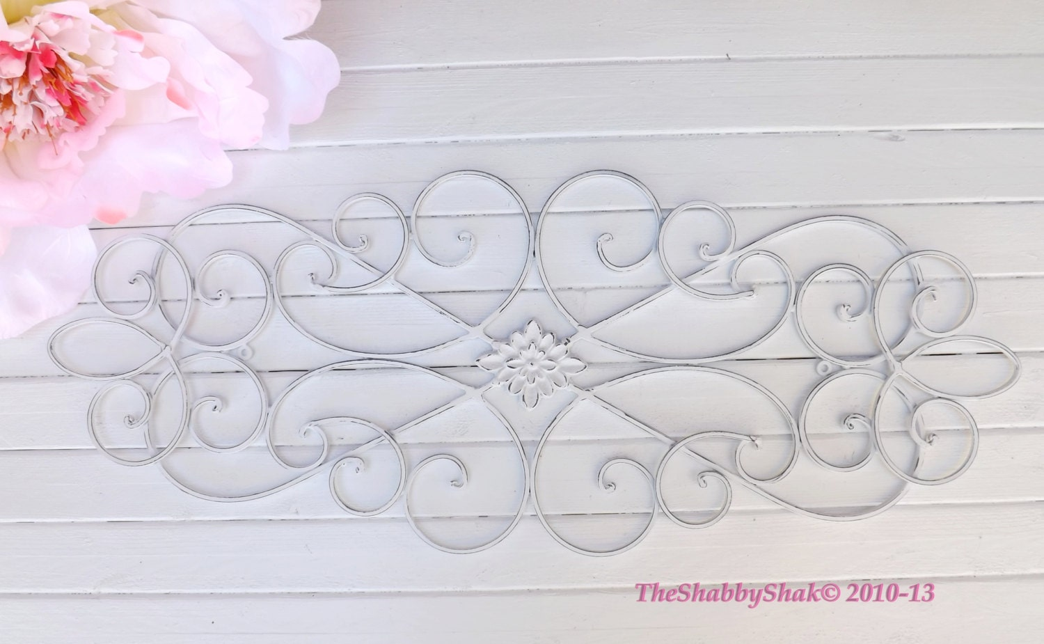 Iron Wall Decor / Wrought Iron / Cottage Style/ Shabby Chic
