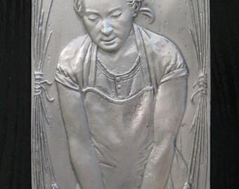 Providing Hands- Relief Sculpture.