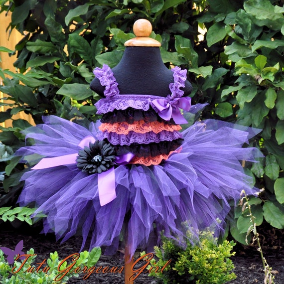 Halloween Black & Purple Witch Tutu...Witch Costume Tutu, Photo Prop, Monster High Tutu...Baby, Toddler, Girls Sizes . . . BEWITCHING