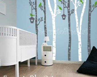 Wall Decals Nursery - Nursery wall Decal - Tree Decal - Birch Trees decal - Birch trees - Wall Decal - Tree