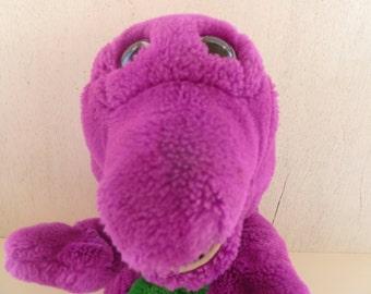 Large Vintage Barney Dinosaur Plush Puppet
