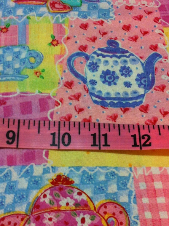 Tea Party Patch Cotton Fabric Sewing Craft Supplies Quilting 100 Cotton Home Decor From