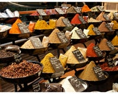 Spices (in French) - spice market photo, autumn colors, fall colors, warm colors, food, kitchen decor - 8x12+ Original Fine Art Photograph