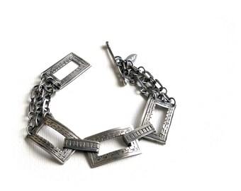 Hand Forged Jewelry | Silver Chain Bracelet | Metalsmith Jewelry