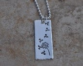 Wish Dandelion Necklace - Women's Hand-stamped Sterling Silver Necklace