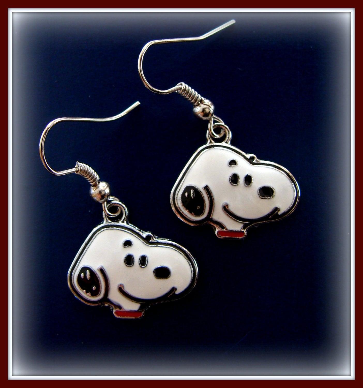 snoopy peanut s earrings jewelry by