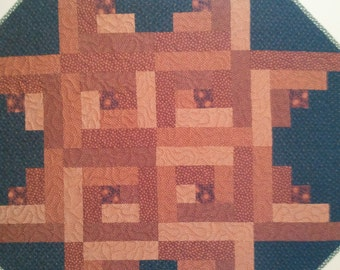 Log Cabin Table Quilt