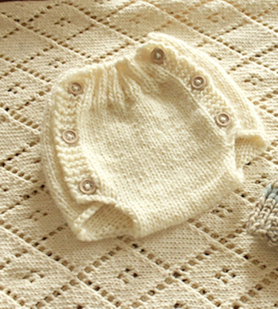 Diaper Cover Knitting Pattern - Newborn  - Instant Download