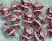"""12 Dancing Santa 3"""" inch  Original Package New in Bag lot of 12 Flocked Vintage"""