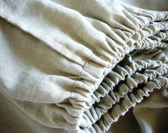 Linen fit sheet -Nature- bespoke linens, Belgian linen, linen bedding, natural linens, Eco-friendly