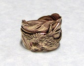 Steampunk Sparrow Feather Ring