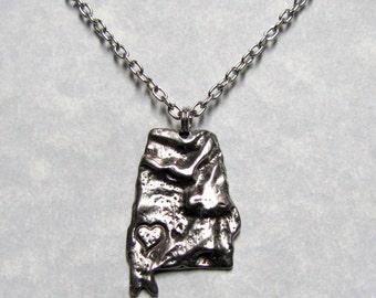 Alabama Love State Pendant Necklace