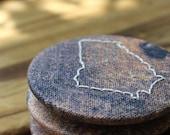 Georgia - Recycled Fabric Magnet - Woodgrain