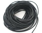 32 Feet Genuine Black Leather Cord 1.5mm - Z06