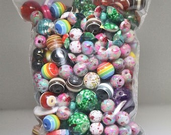 Bead Grab Bag 4 oz. (approximately 100- 150 beads) mixed size and color beads