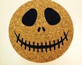 Engraved Jack Skellington Halloween Trivet or Coaster