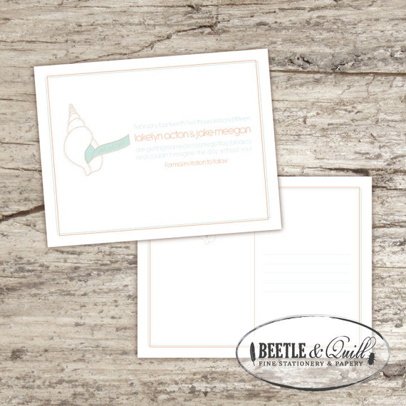Just Beachy Printable Save the Date