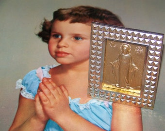 Retro Plastic Virgin Mary Frame Made in Italy