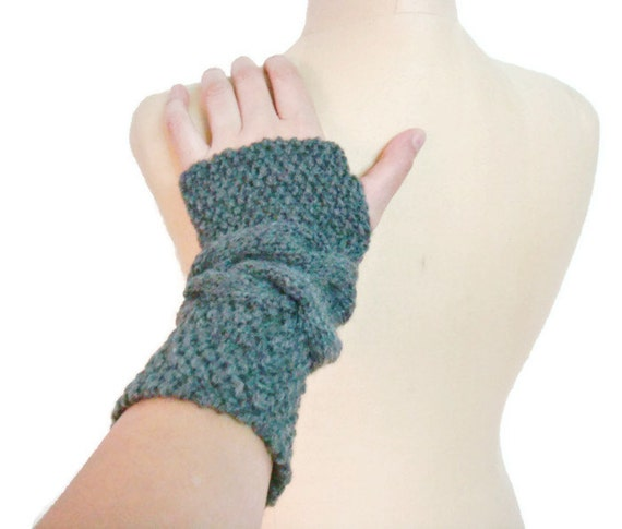 PDF Pattern Cable Knit Fingerless Gloves 233 by PATTERNSbyFAIMA