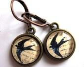 Flying Swallow Bird Earrings Retro Fashion Jewelry