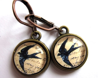 Swallow Bird Earrings Retro Fashion Jewelry