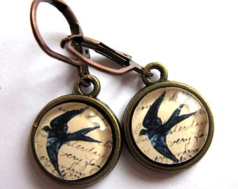 Flying Swallow Bird Earrings Retro Fashion Jewelry
