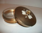 Vintage Chase Chrome Art Deco  Powder Box / Covered Dish / Trinket Box