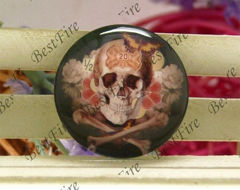 10mm,12mm,14mm,16mm,18mm,20mm,25mm,30mm Round Glass Cabochons Skull,jewelry Cabochons finding beads,Glass Cabochons,skull Cabochons--02