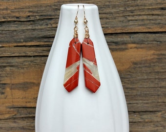 Red River jasper earrings, jasper earrings, autumn earrings