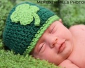 4 LEAF SHAMROCK CLOVER St Patrick's Day Crochet Hat Baby Newborn 0 3 6 12 Months 1T 2T 3T 4T Child Teen Adult
