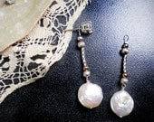 Earring Jackets Posts or Studs Coin Pearl Twisted Silver Bridal