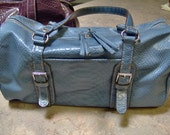 Liz Claiborne Blue Faux Alligator Purse