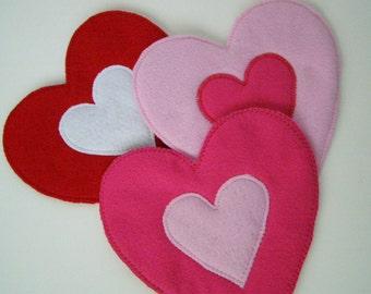 SALE Heart Felt Hot Pad choose your color