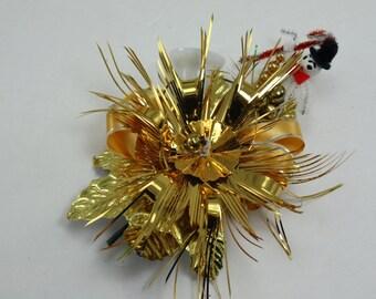 Vintage Christmas Holiday Corsage Brooch Pin Package Decor Original Box