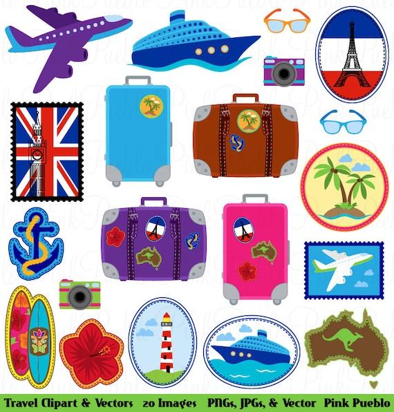Travel Clipart Clip Art Vacation Beach Vectors